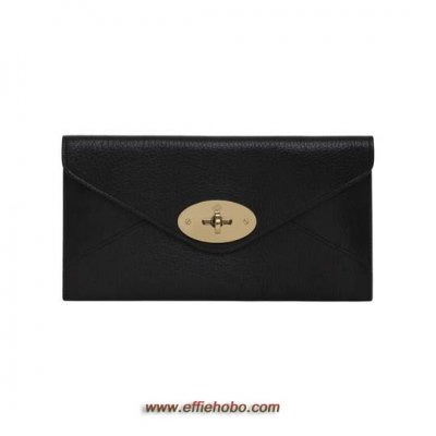 Mulberry Envelope Wallet Black Glossy Goat