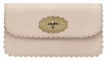 Free Gift for order amount over 230GBP-Mulberry Cookie Long Locked Purse Beige