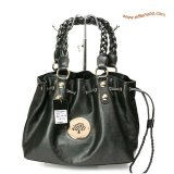 Mulberry Daria Drawstring Leather Tote Bag Black