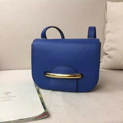 2017 Spring Mulberry Small Selwood Satchel Bag Porcelain Blue Classic Grain