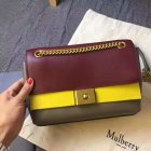 2017 Summer Mulberry Cheyne Bag Oxblood, Sunflower & Clay Smooth Calf