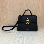 2018 New Mulberry Small Seaton Bag Black Classic Grain Leather