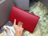2014 Autumn/Winter Mulberry Campden Clutch in Poppy Red Silky Nappa Leather