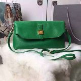 2015 New Mulberry Tessie Shoulder Bag in Jungle Green Soft Grain Leather