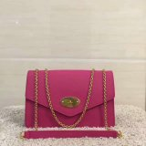 2017 Latest Mulberry Large Darley Bag Fuchsia Grain Leather