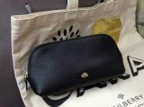 2014 Autumn/Winter Mulberry Make Up Case Black Small Grain Leather