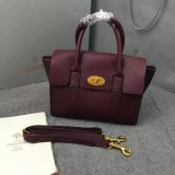 2016 A/W Mulberry Small New Bayswater Oxblood Natural Grain Leather