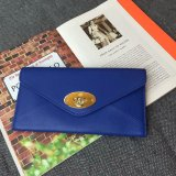 2015 Hottest Mulberry Envelope Wallet in Blue Leather