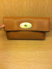 Mulberry Oversized Clemmie Clutch in Oak Leather