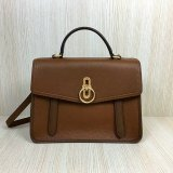 2018 Mulberry Gracy Satchel Tan Grain Calf Leather