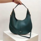 2018 Mulberry Small Selby Hobo Bag in Green Small Classic Grain Leather