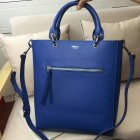 2017 Spring Mulberry Small Maple Tote Bag Porcelain Blue Natural Grain Leather