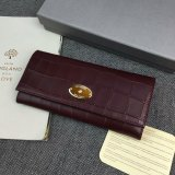2016 Spring Mulberry Continental Wallet in Oxblood Croc Leaher