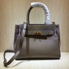 2020 Mulberry Small Belted Bayswater Bag Solid Grey Heavy Grain Leather