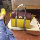 2017 Summer Mulberry Small New Bayswater Sunflower,Oxblood & Dune Smooth Calf