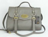 Free Gift for order amount over 420GBP-Mulberry Alexa Grey Leather Bag