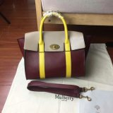 2017 Summer Mulberry Small New Bayswater Oxblood, Dune & Sunflower Smooth Calf