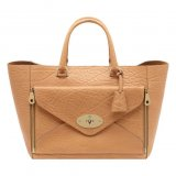 Mulberry Willow Tote Biscuit Brown Shrunken Calf Leather
