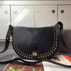 2015 Autumn/Winter Mulberry Tessie Satchel Black Leather with rivets detailing