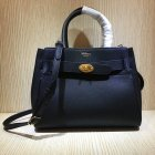 2020 Mulberry Small Belted Bayswater Bag Black Heavy Grain Leather