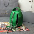 2015 Autumn/Winter Mulberry Georgia May Jagger Biker Pouch Green Soft Buffalo Leather