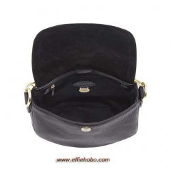 Mulberry Small Effie Satchel Black Spongy Pebbled