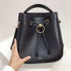 2019 Mulberry Hampstead Bucket Bag Midnight Small Classic Grain