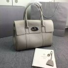 2016 Hottest Mulberry Bayswater Handbag in Grey Small Grain Leather