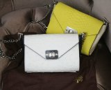 2015 Cheap Mulberry Delphie Bag Cream & Black Ostrich Leather