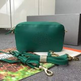2015 Latest Mulberry Blossom Pochette With Strap Green Calf Nappa
