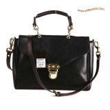 Mulberry Polly Push Lock Satchel Bag Black
