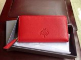 2015 Mulberry Effie Zip Around Purse in Red Spongy Pebbled Leather