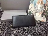 2015 New Mulberry Zip Around Wallet in Black Natural Leather