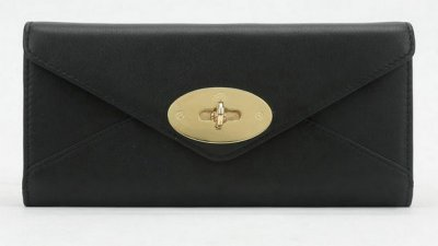 Mulberry Envelope Wallet in Black Classic Calf