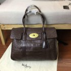 2016 S/S Mulberry Bayswater Tote Chocolate Croc Print