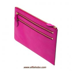 Mulberry Multizip Pouch Mulberry Pink Glossy Goat