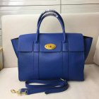 2017 Spring Mulberry Bayswater with Strap Porcelain Blue Grain Leather