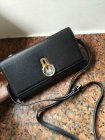 2018 Mulberry Amberley Clutch Black Grain Leather