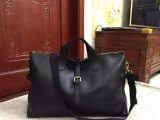 Men's Mulberry Albert Holdall in Black Natural Leather
