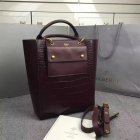 2016 A/W Mulberry Maple Tote Bag Oxblood Polished Embossed Croc Leather