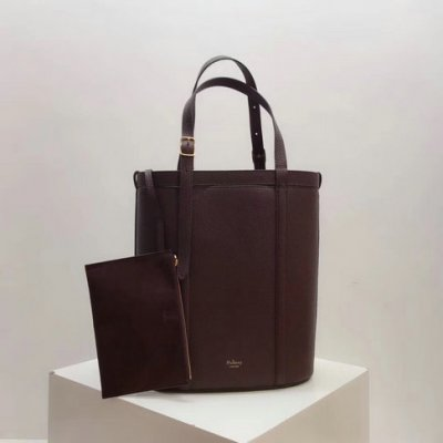 2018 Mulberry Small Wilton Tote Burgundy Small Classic Grain