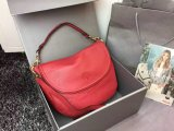 Latest Mulberry Effie Satchel Red Spongy Pebbled