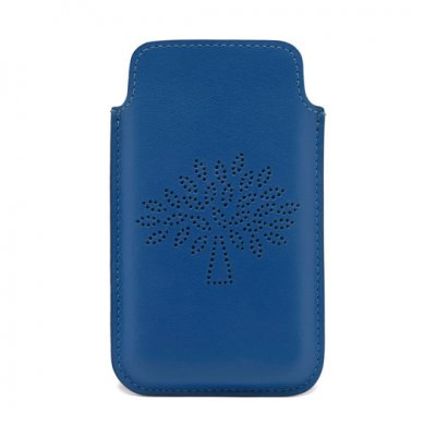 2015 Latest Mulberry Blossom iPhone Plus Cover in Sea Blue Leather