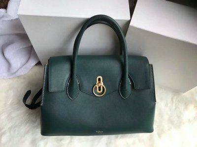 2018 New Mulberry Seaton Bag Green Silky Calf Leather