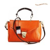 Mulberry Polly Push Lock Satchel Bag Orange
