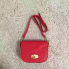 2017 Spring Mulberry Small Darley Satchel Fiery Red Classic Grain Leather