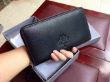 2015 Mulberry Effie Zip Around Purse in Black Spongy Pebbled Leather