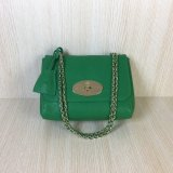 2016 Mulberry Lily Shoulder Bag in Green Soft Grain Leather