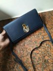 2018 Mulberry Amberley Clutch Dark Blue Grain Leather