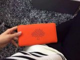 2015 Latest Mulberry Blossom Zip Around Wallet Mandarin Calf Nappa Leather